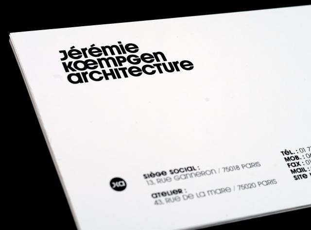 Jérémie Kœmpgen Architecte / Carte de correspondance