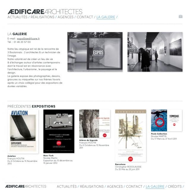 AEDIFICARE Galerie