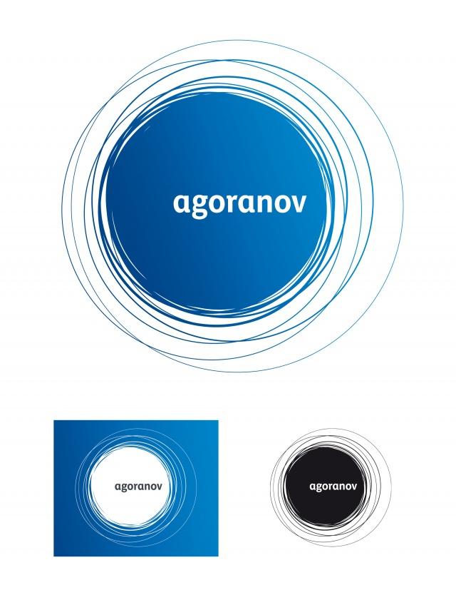 Agoranov logo principale, version en réserve et au trait