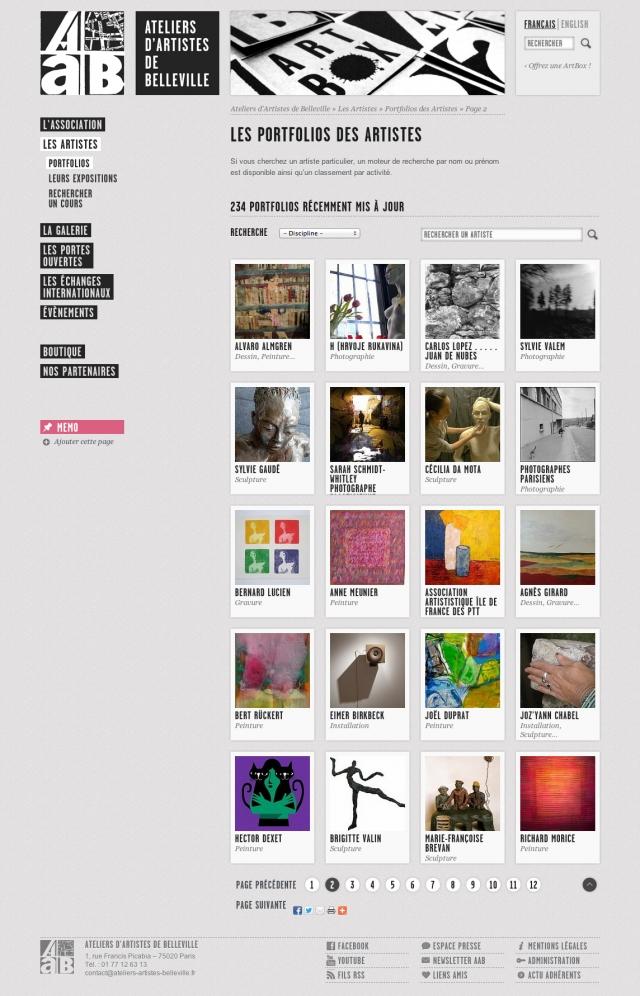 les AAB - liste des artistes