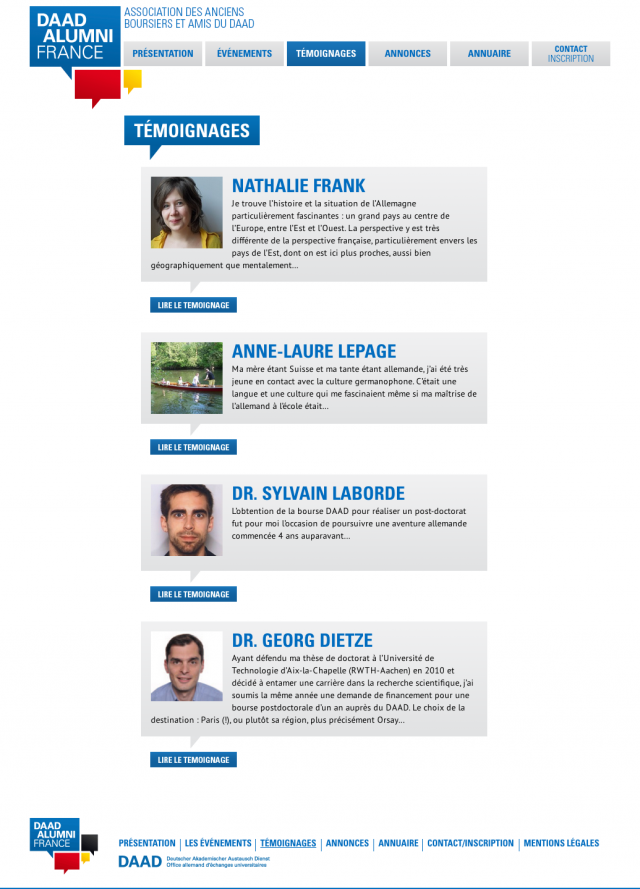 DAAD Alumni France – temoignages
