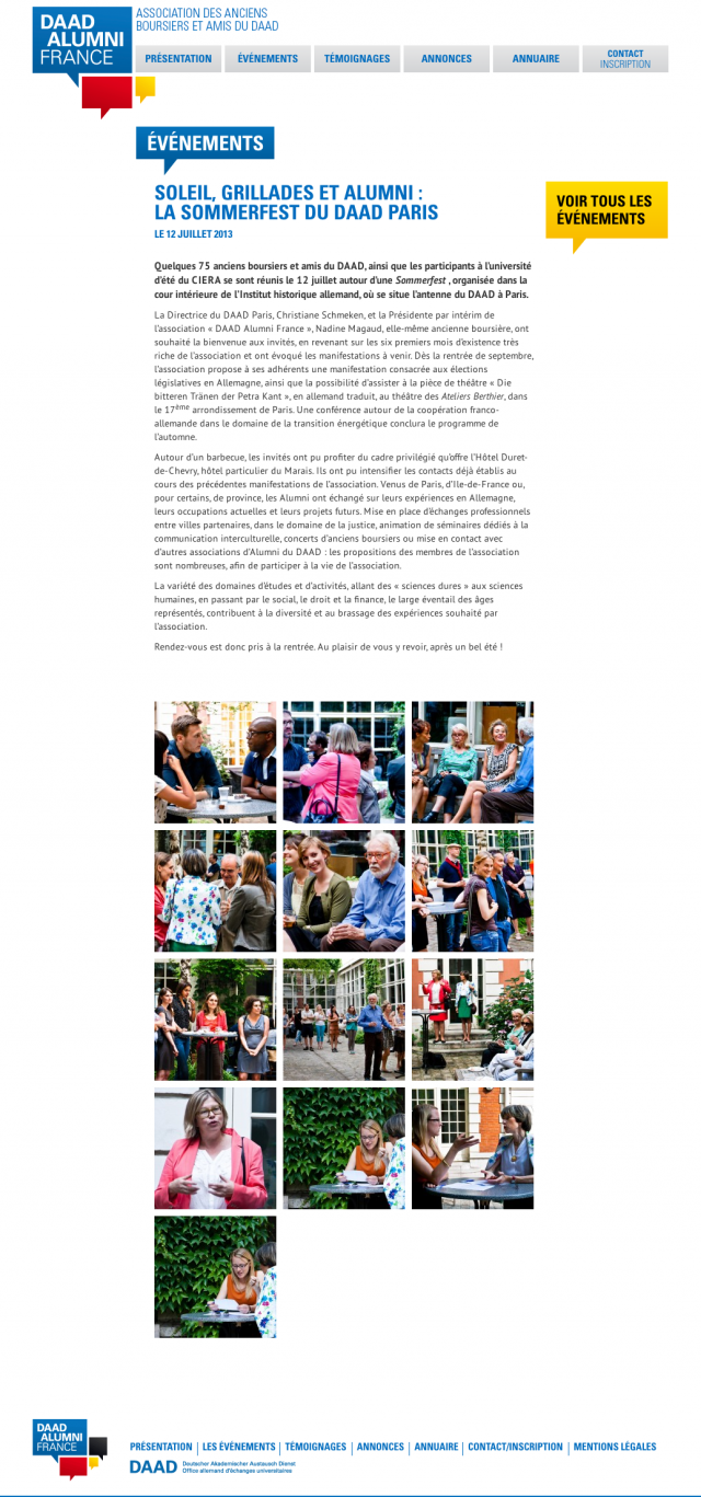 DAAD Alumni France – evenemnts